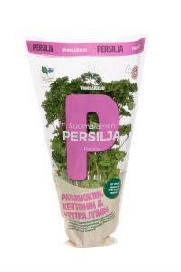 Vihreäkeijun suomalainen persilija pakkauksessa