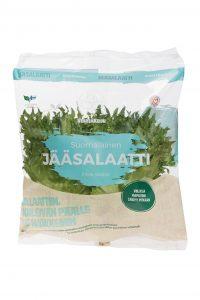 Vihreäkeijun ilmastosertifikoitu jääsalaatti pakkauksessa